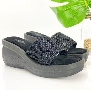 Vintage Lee Dungarees 90's Platform Sandal Black